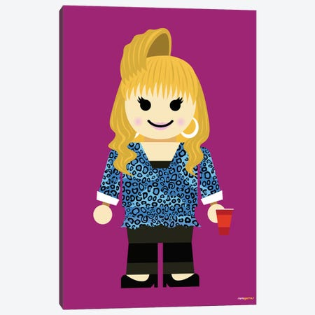 Toy Rachel Green Canvas Print #RAF106} by Rafael Gomes Canvas Art Print