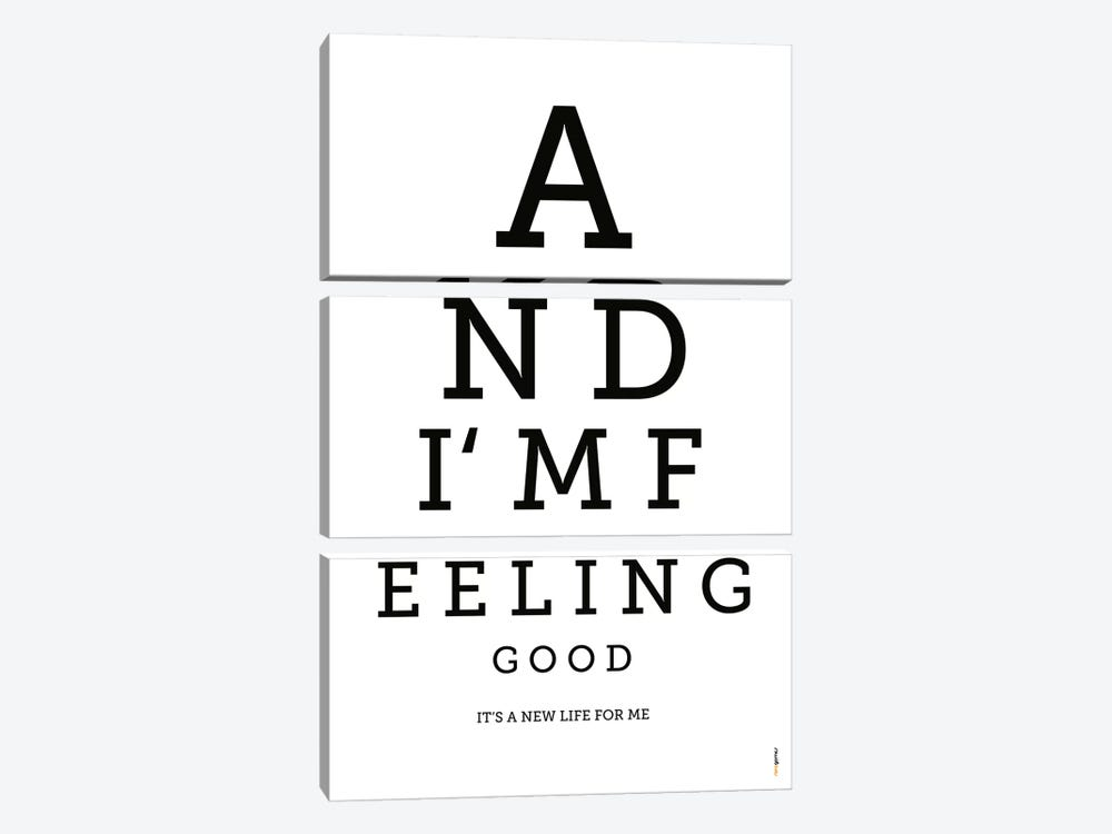 Feeling Good by Rafael Gomes 3-piece Canvas Print