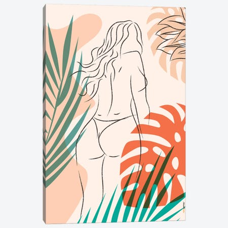Beach Girl II Canvas Print #RAF120} by Rafael Gomes Canvas Artwork