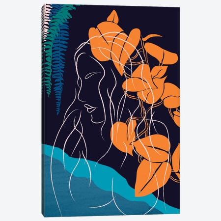 Beach Girl V Canvas Print #RAF123} by Rafael Gomes Canvas Artwork