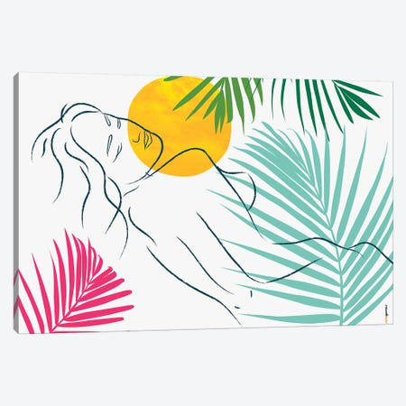 Beach Girl VI Canvas Print #RAF124} by Rafael Gomes Art Print