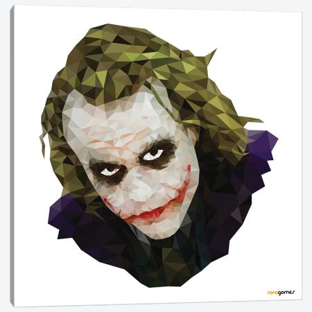 Joker I Canvas Print #RAF126} by Rafael Gomes Canvas Print
