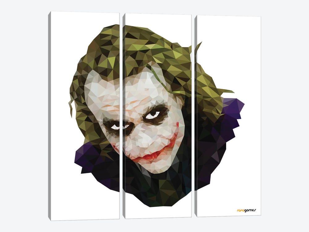 Joker I by Rafael Gomes 3-piece Canvas Art