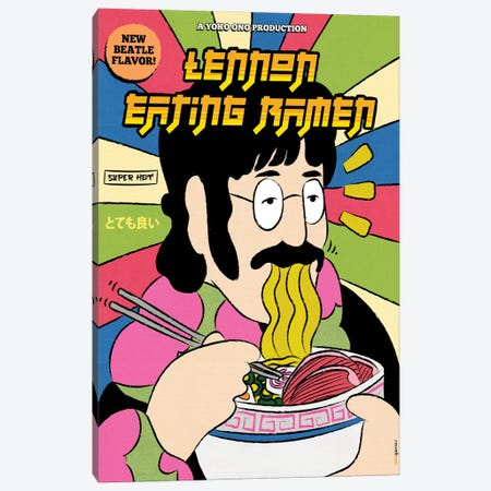 Lennon Eating Ramen Canvas Print #RAF129} by Rafael Gomes Canvas Art