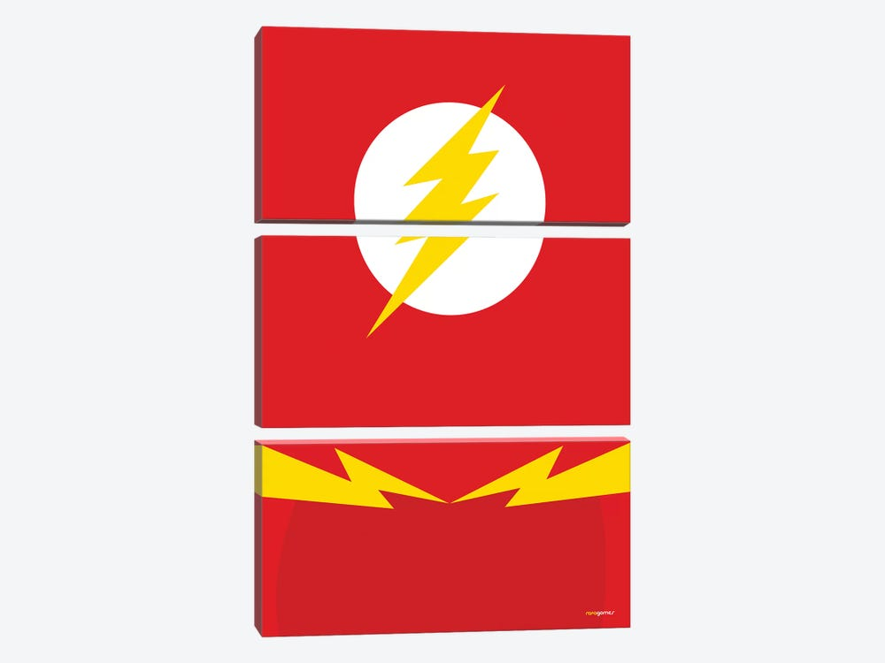 Flash by Rafael Gomes 3-piece Canvas Artwork