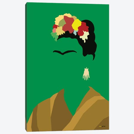 Frida Canvas Print #RAF13} by Rafael Gomes Art Print