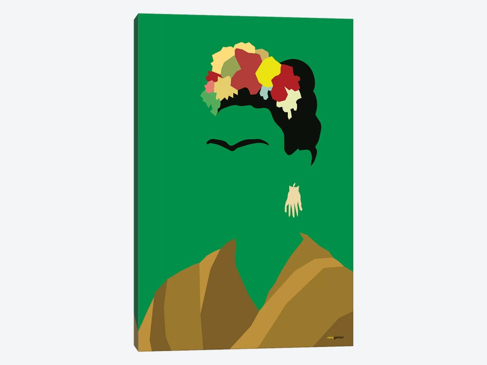 Frida by Rafael Gomes 1-piece Canvas Print