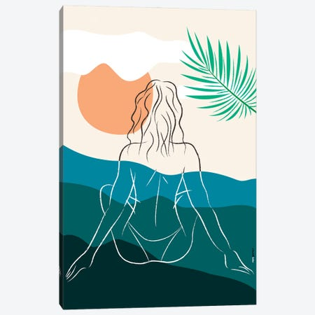 Beach Girl X Canvas Print #RAF140} by Rafael Gomes Canvas Art