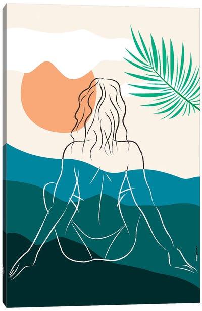 Beach Girl X Canvas Art Print