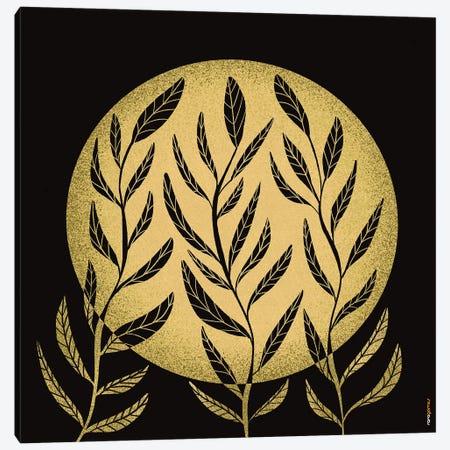 Yellow Moon Canvas Print #RAF145} by Rafael Gomes Art Print