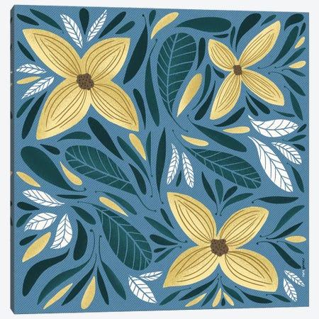 Yellow Flowers I Canvas Print #RAF146} by Rafael Gomes Art Print