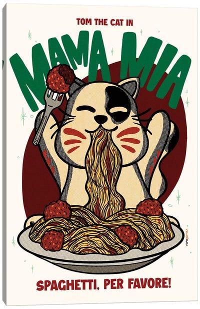 Mama Mia Spaghetti Canvas Art Print
