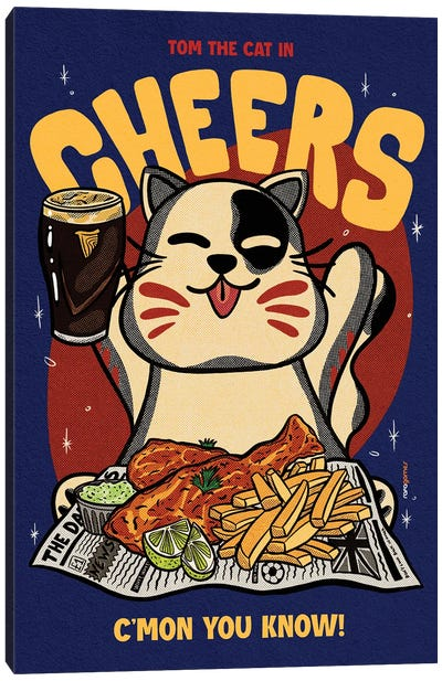 Cheers Baby Canvas Art Print