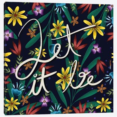 Let It Be Floral Canvas Print #RAF159} by Rafael Gomes Art Print