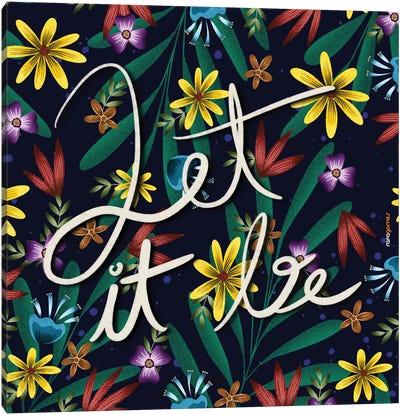 Let It Be Floral Canvas Art Print