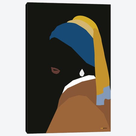 Girl With An Earring Canvas Print #RAF15} by Rafael Gomes Canvas Wall Art