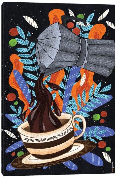 Coffee First Canvas Art Print