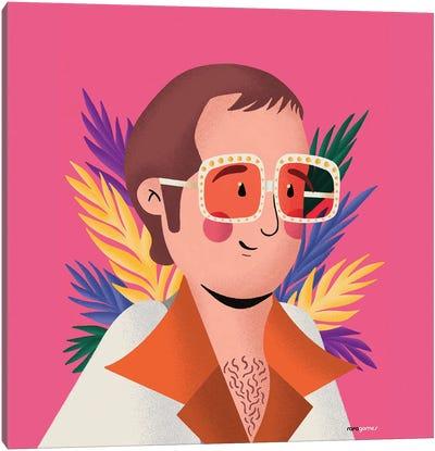 Elton John Portrait Canvas Art Print