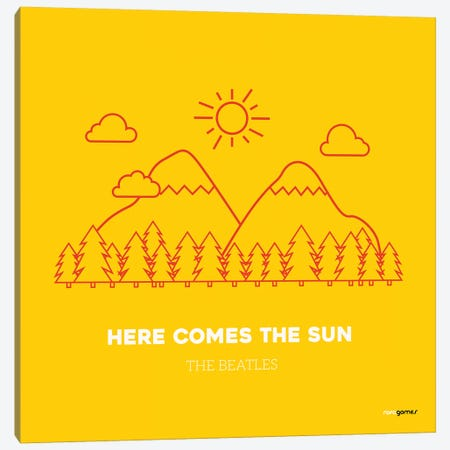 Here Comes The Sun Canvas Print #RAF16} by Rafael Gomes Canvas Artwork