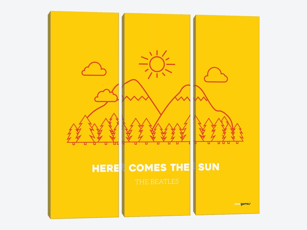 Here Comes The Sun by Rafael Gomes 3-piece Canvas Wall Art