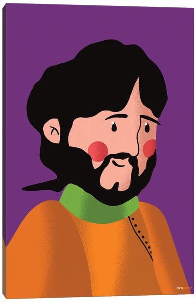 George Harrison Portrait Canvas Art Print