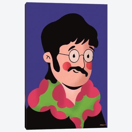 John Lennon Portrait Canvas Print #RAF175} by Rafael Gomes Canvas Art