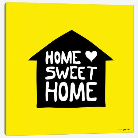 Home Sweet Home Canvas Print #RAF17} by Rafael Gomes Canvas Wall Art