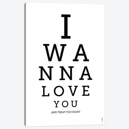I Wanna Love You Canvas Print #RAF19} by Rafael Gomes Canvas Art Print