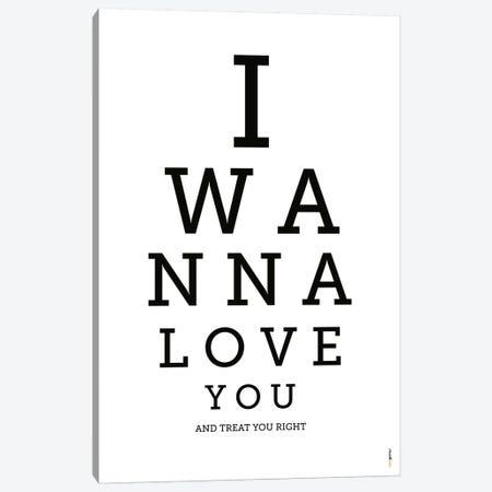 I Wanna Love You Canvas Print #RAF19} by Rafael Gomes Canvas Art Print