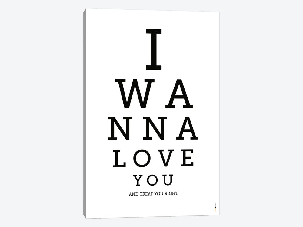 I Wanna Love You by Rafael Gomes 1-piece Canvas Print