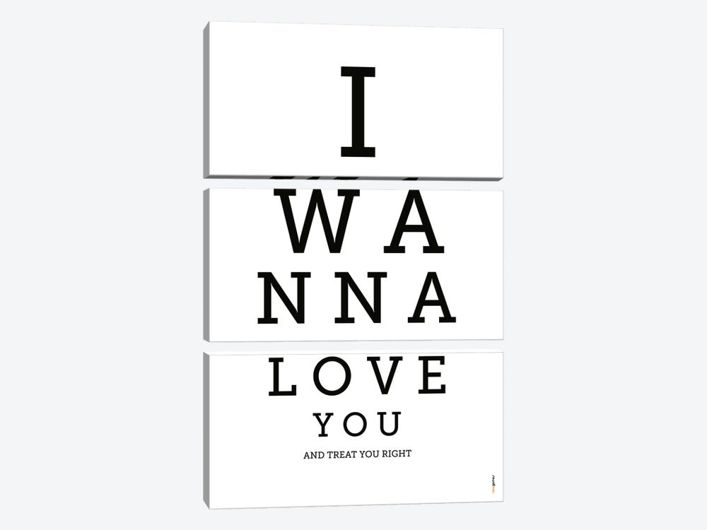 I Wanna Love You by Rafael Gomes 3-piece Art Print