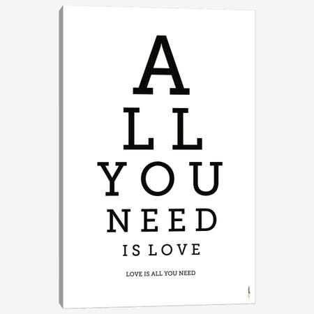 All You Need Is Love Canvas Print #RAF1} by Rafael Gomes Canvas Wall Art