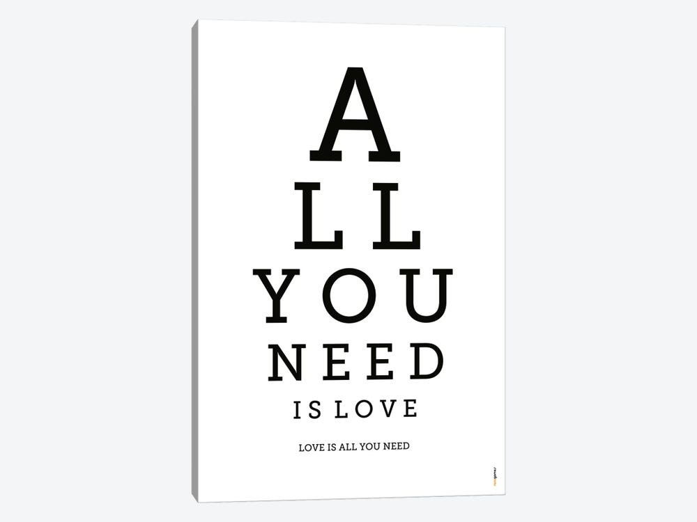 All You Need Is Love by Rafael Gomes 1-piece Canvas Art Print