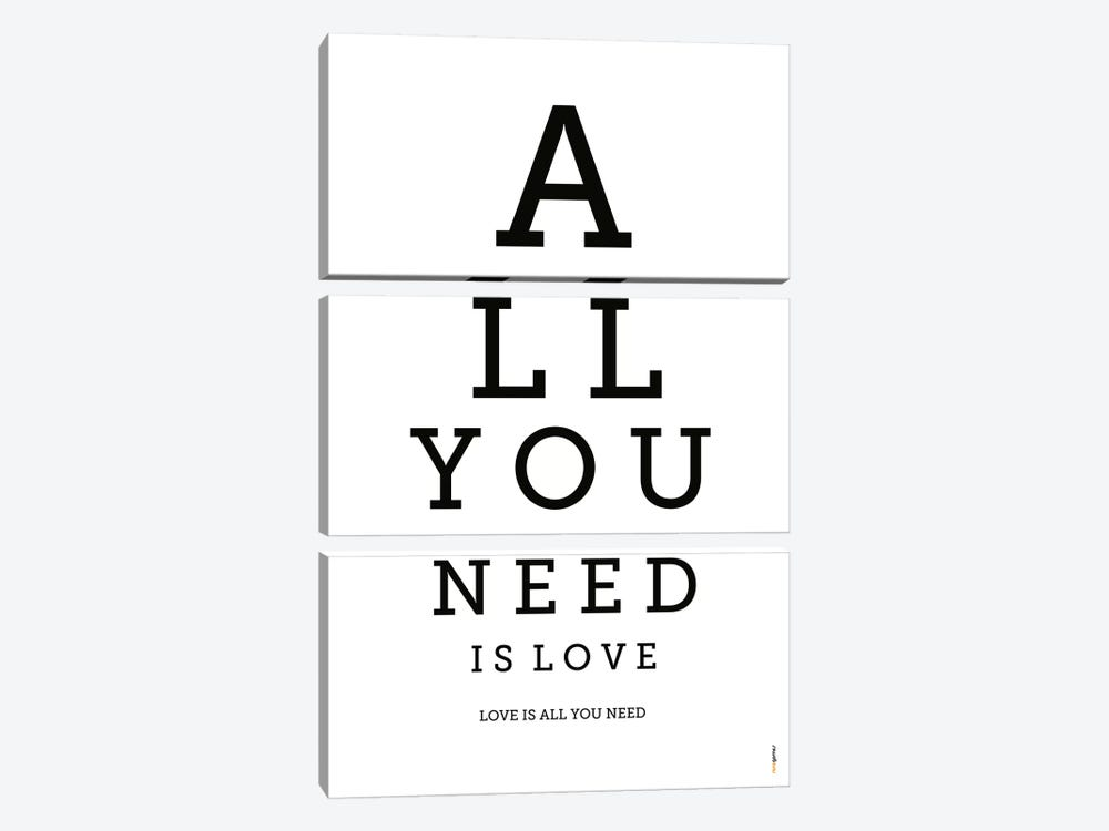 All You Need Is Love by Rafael Gomes 3-piece Art Print