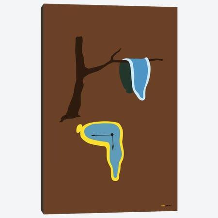 La Persistencia de la Memoria 3-Piece Canvas #RAF22} by Rafael Gomes Canvas Artwork