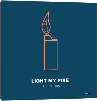 Light My Fire Canvas Art Print