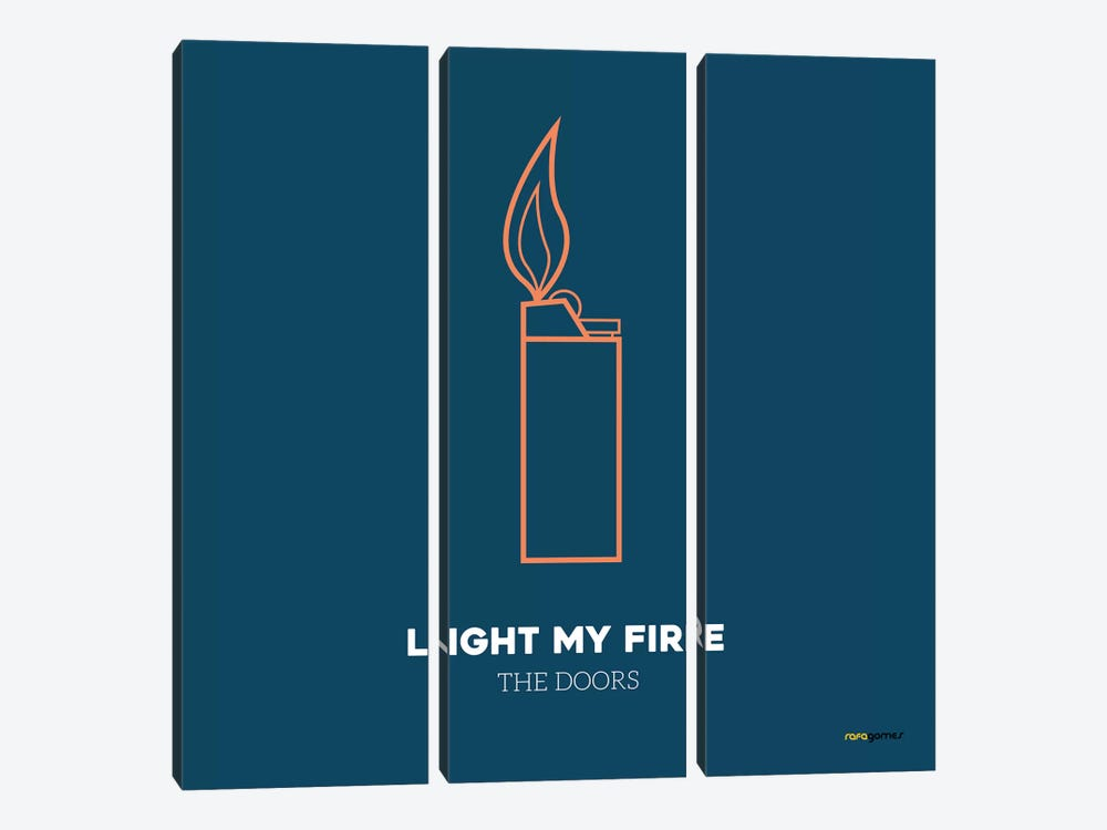 Light My Fire by Rafael Gomes 3-piece Canvas Art
