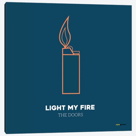 Light My Fire Canvas Print #RAF23} by Rafael Gomes Canvas Wall Art