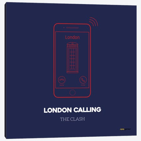 London Calling 3-Piece Canvas #RAF24} by Rafael Gomes Art Print