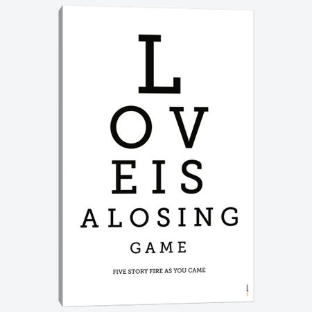 Love Is A Losing Game Canvas Print #RAF26} by Rafael Gomes Art Print