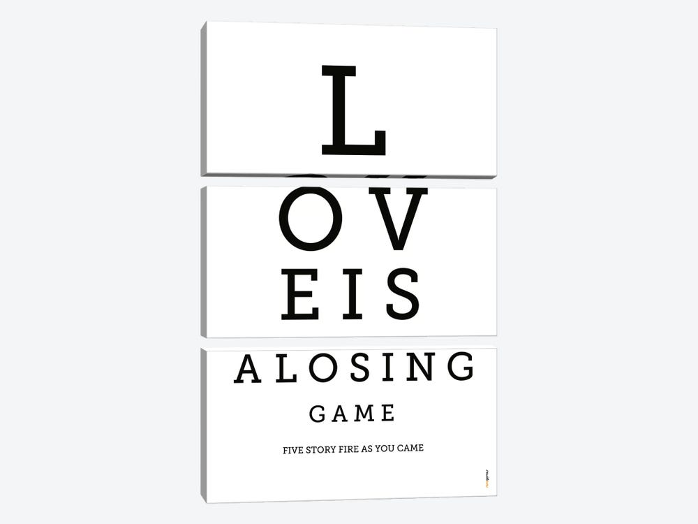 Love Is A Losing Game by Rafael Gomes 3-piece Canvas Art Print