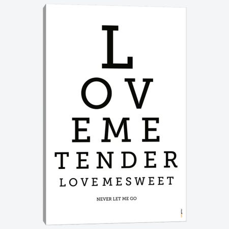 Love Me Tender Canvas Print #RAF27} by Rafael Gomes Canvas Art Print