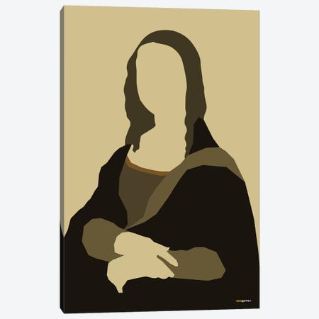 Mona Lisa Canvas Print #RAF28} by Rafael Gomes Canvas Wall Art