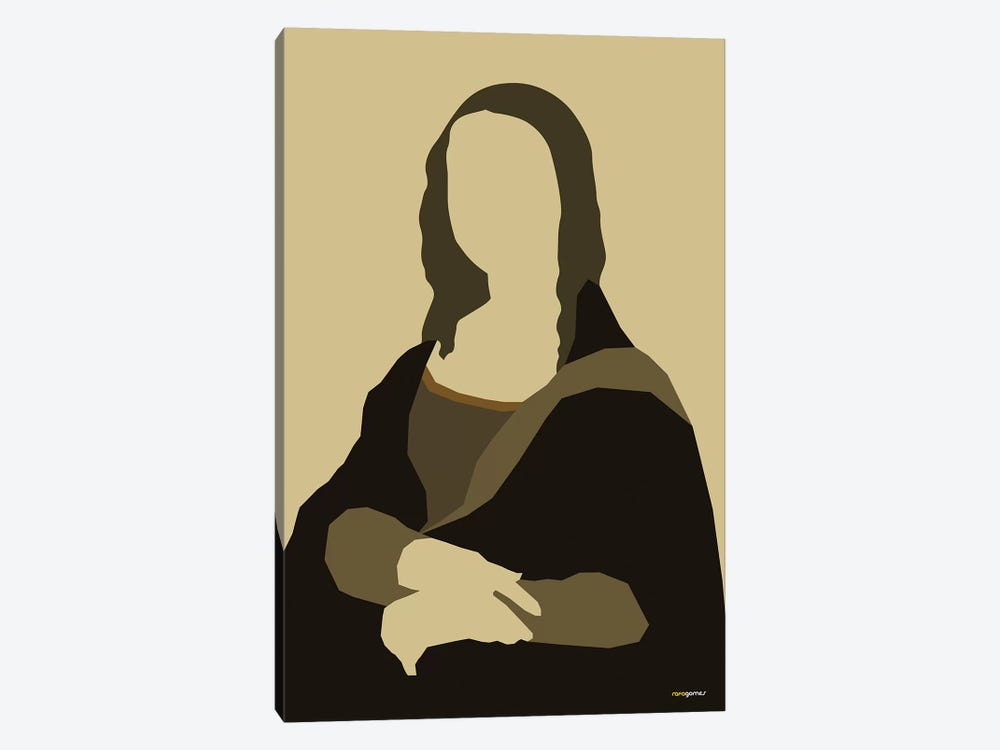 Mona Lisa by Rafael Gomes 1-piece Canvas Art Print
