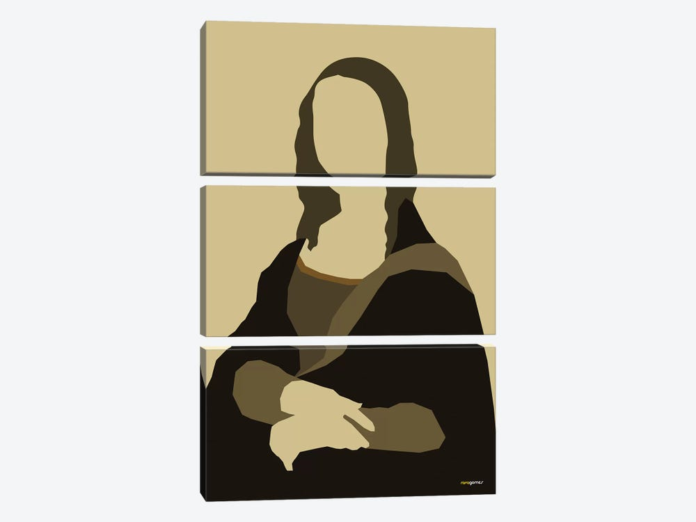 Mona Lisa by Rafael Gomes 3-piece Canvas Print