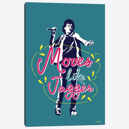 Moves Like Jagger Canvas Print #RAF29} by Rafael Gomes Canvas Art