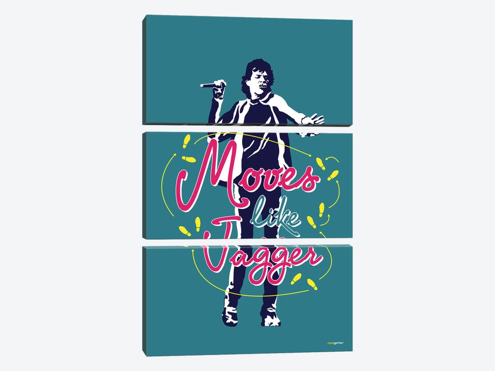 Moves Like Jagger by Rafael Gomes 3-piece Canvas Art