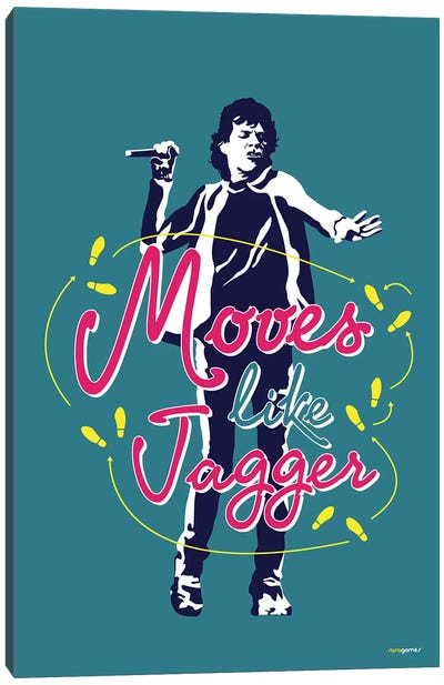 Moves Like Jagger Canvas Art Print