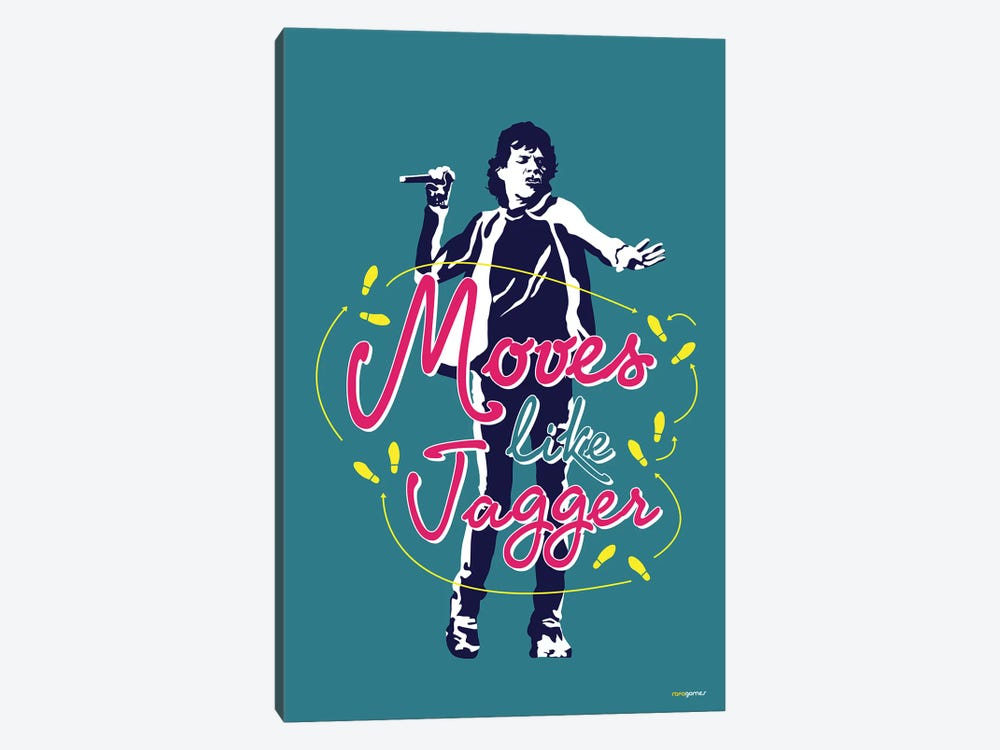 Moves Like Jagger by Rafael Gomes 1-piece Canvas Wall Art