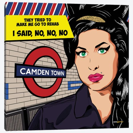 Amy Winehouse Canvas Print #RAF2} by Rafael Gomes Canvas Wall Art